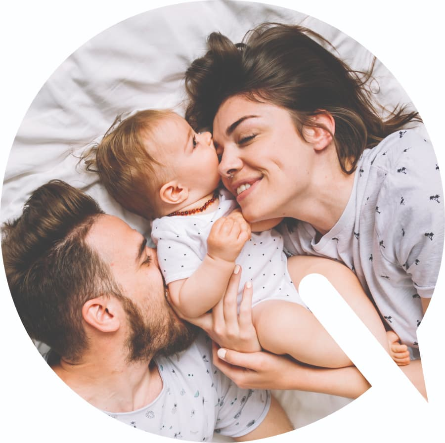 A family with their baby happy to have found Health Insurance Quotes.