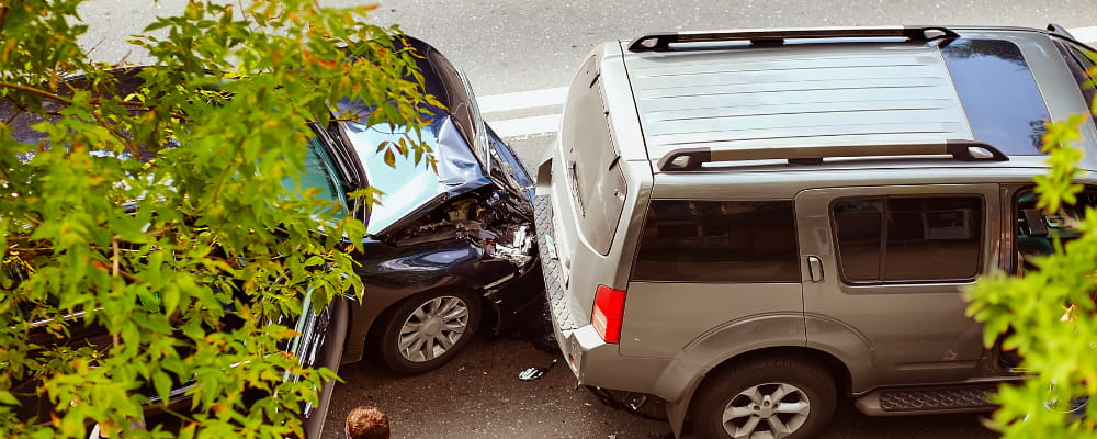 Automobile accident on street