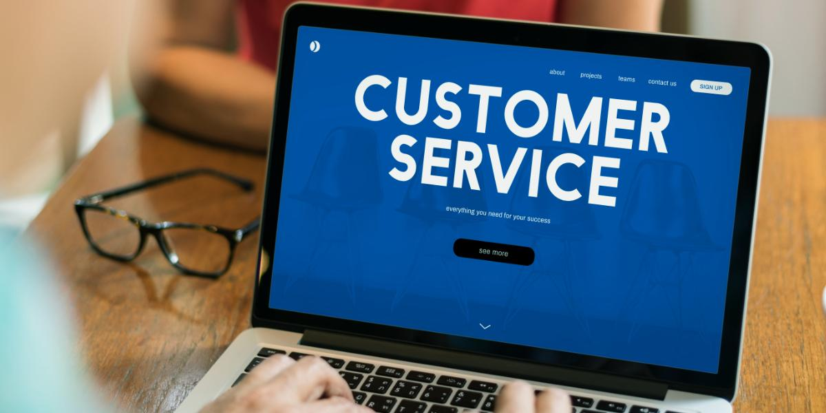 Customer care webpage interface