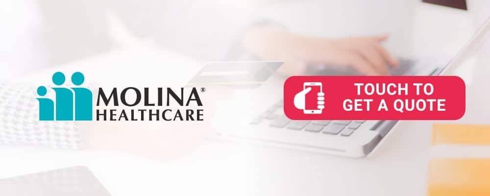 Molina logo is selling health insurance. Touch to call.