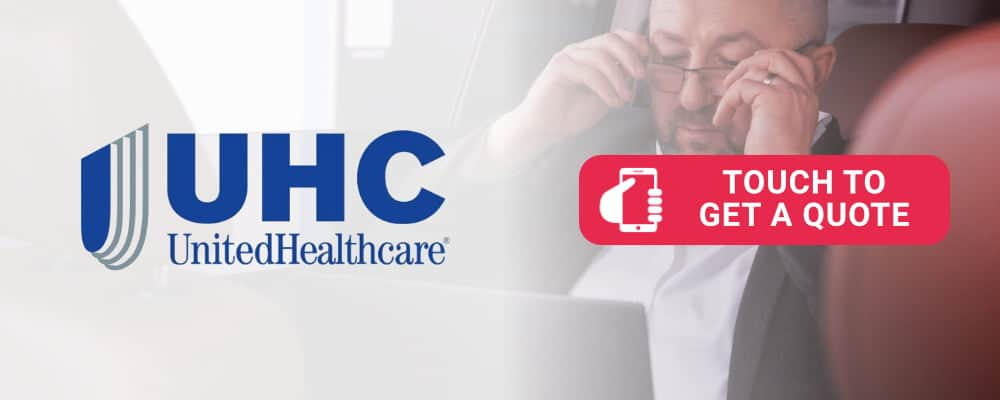 United Health Care (UHC) logo is selling health insurance. Touch to call.